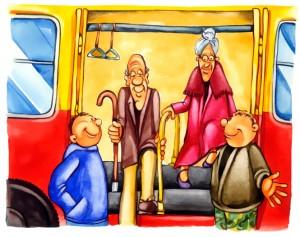 idosek a buszrol