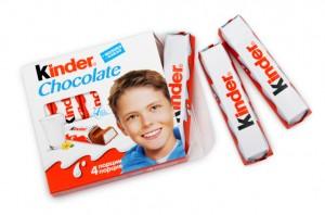kinder csokolade