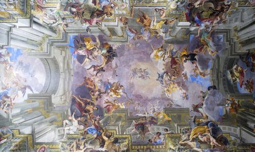 Andrea Pozzo freskója a Loyolai Szent Ignác templomban Rómában