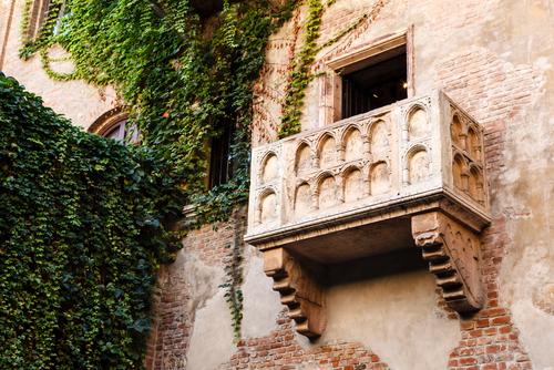 Romeo és Júlia balkonja veronában