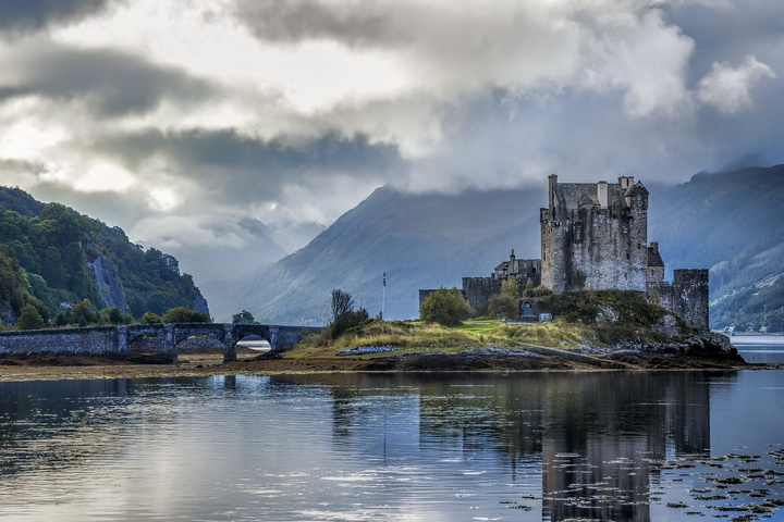 Eilean Donan Castle and Swirling Clouds