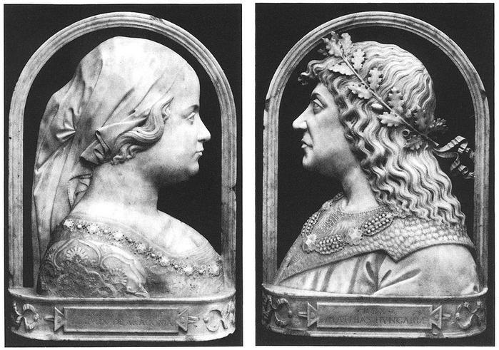 Corvin Mátyás és Aragóniai Beatrix portréja