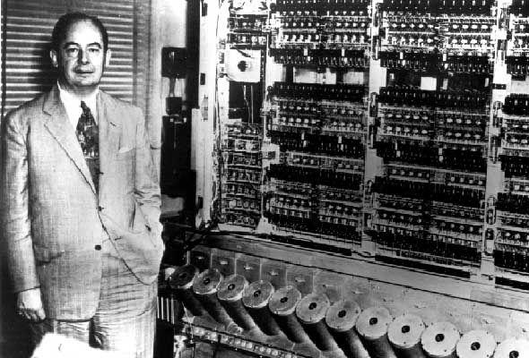 Neumann és egy korabeli számítógép