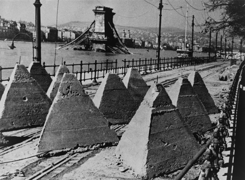 Manci híd - fénykép a lerombolt Lánchídról