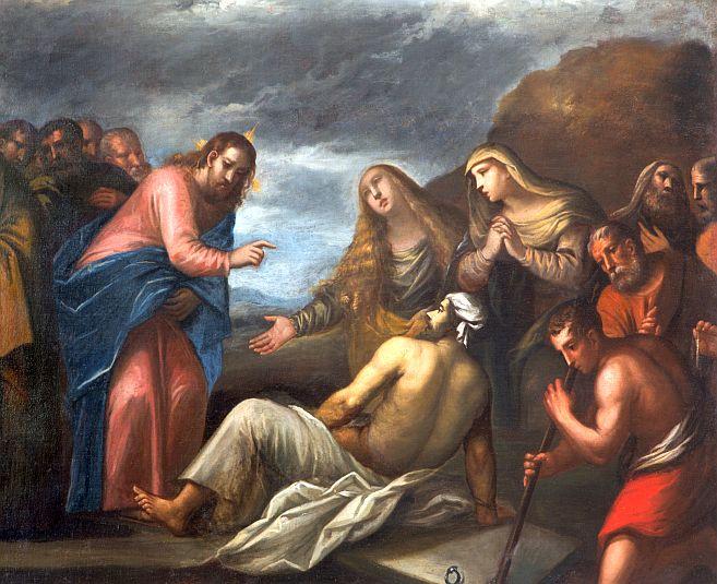 Lázár névnap - Lázár feltámasztása