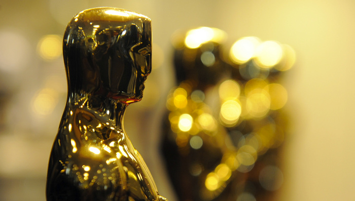 Oscar Statues on display at the Time War